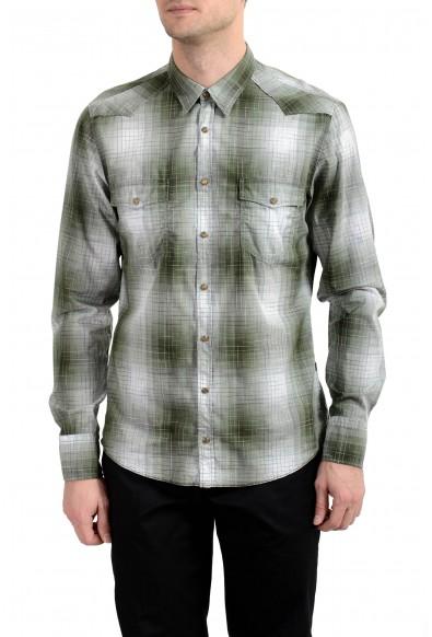 "Hugo Boss ""Erodeo_1"" Men's Slim Plaid Long Sleeve Casual Shirt"