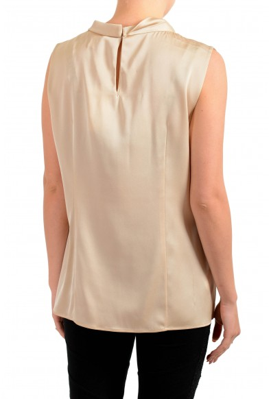 "Hugo Boss Women's ""Lyabo"" Beige Silk Sleeveless Blouse Top: Picture 2"