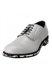 Jimmy Choo Men's Leather Alaric Cloud Gray Lace Up Oxfords Shoes