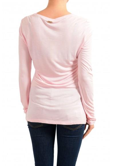 Versace Jeans Women's Pink Crewneck Long Sleeve Top: Picture 2