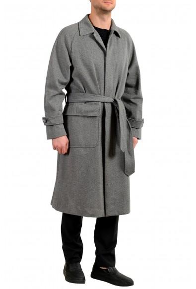 """Hugo Boss Men's """"Gibor"""" Gray Wool Belted Long Coat : Picture 2"""