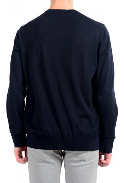 Versace Men's 100% Wool Navy Blue Crewneck Pullover Sweater : Picture 2
