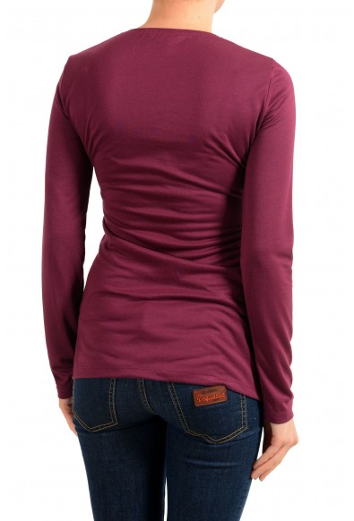 Versace Jeans Women's Burgundy Crewneck Long Sleeve Top: Picture 2