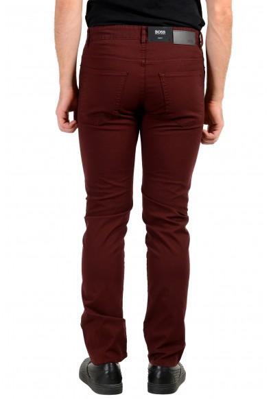 "Hugo Boss Men's ""Delaware3-1-20"" Slim Fit Burgundy Stretch Jeans: Picture 2"