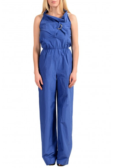 Viktor & Rolf Women's Blue Sleeveless Jumpsuit Romper