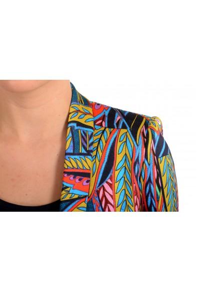 Just Cavalli Women's Multi-Color One Button Floral Print Blazer: Picture 2