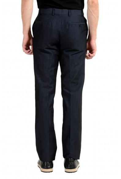 John Varvatos Men's Wool Linen Navy Blue Dress Pants: Picture 2