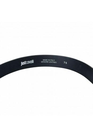 Just Cavalli 100% Leather Black Embellished Women's Belt: Picture 2