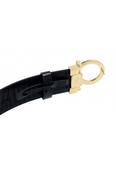 Salvatore Ferragamo Women's Black 100% Textured Leather Buckle Decorated Belt: Picture 2