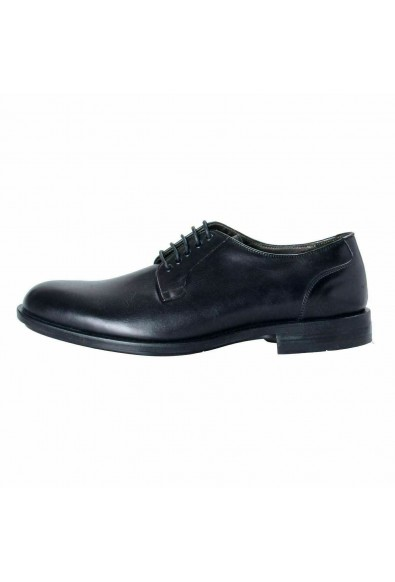 A. Testoni Basic Men's Leather Black Lace Up Oxford Shoes: Picture 2