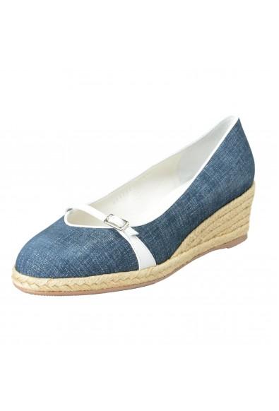 """Salvatore Ferragamo Women's """"AUDREY"""" Leather Wedges Pumps Shoes"""
