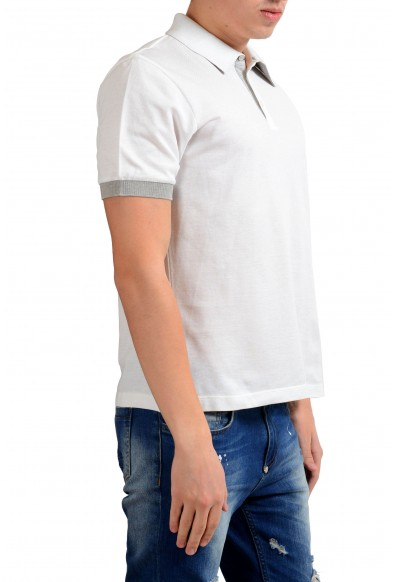 Malo Men's White Short Sleeve Polo Shirt : Picture 2