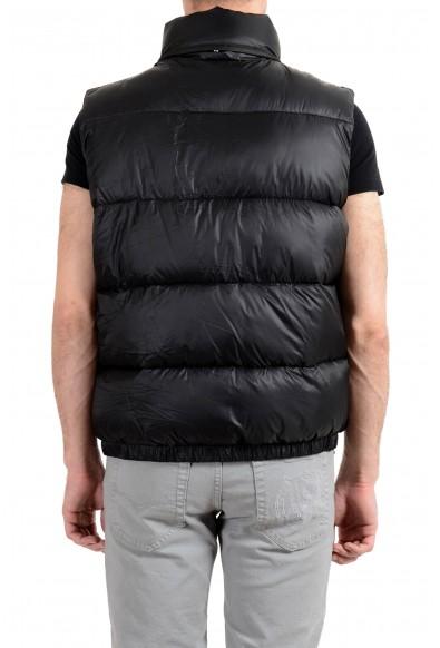 Versace Men's Black Logo Full Zip Sleeveless Parka Vest: Picture 2