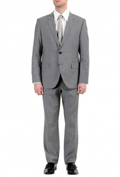 """Hugo Boss """"The James4/Sharp6"""" Men's 100% Wool Gray Two Button Suit"""