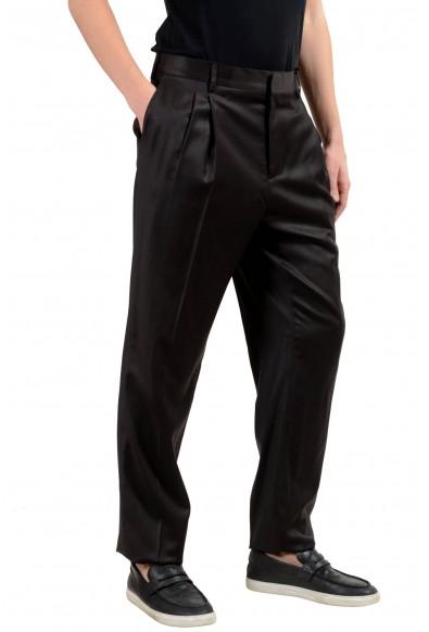 Versace Men's 100% Wool Dark Brown Pleated Dress Pants: Picture 2