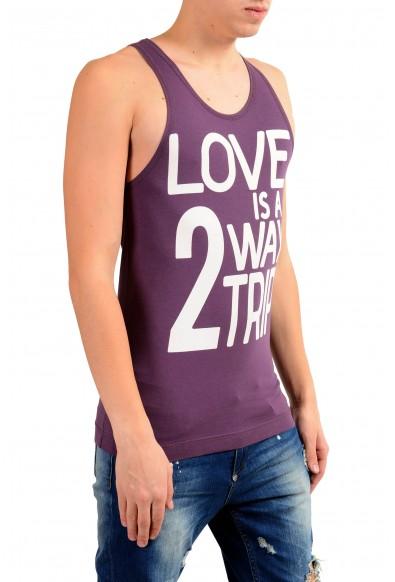 Dolce & Gabbana D&G Men's Graphic Purple Tank Top: Picture 2