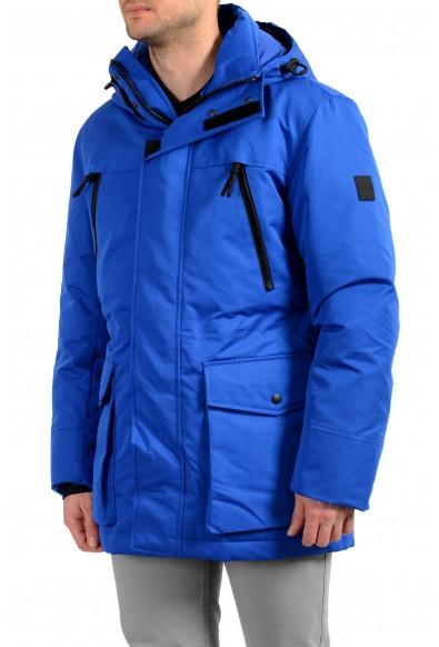 "Hugo Boss Men's ""Demos"" Blue Hooded Long Down Mountain Parka Jacket : Picture 2"