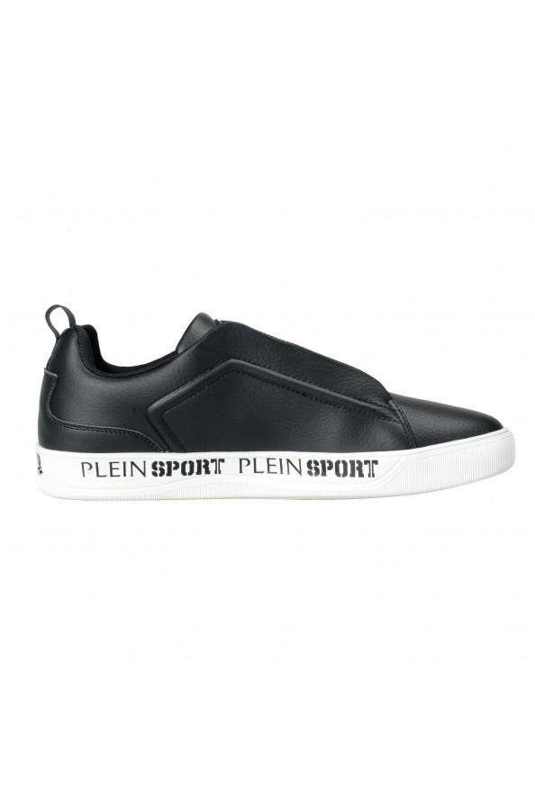 "Plein Sport ""John"" Black Slip On Fashion Sneakers Shoes : Picture 4"