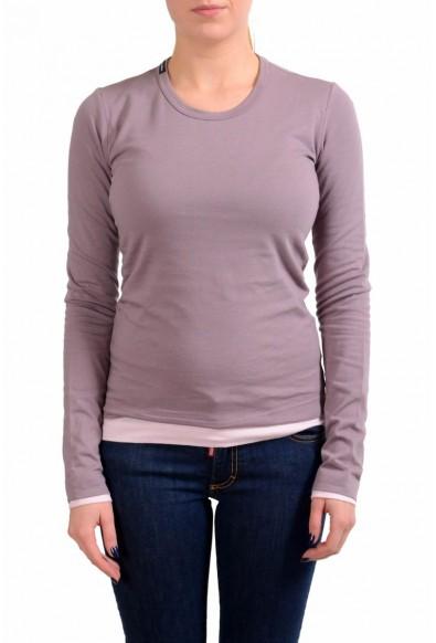 Dolce & Gabbana Womens Purple/Pink Long Sleeve Reversible T-Shirt