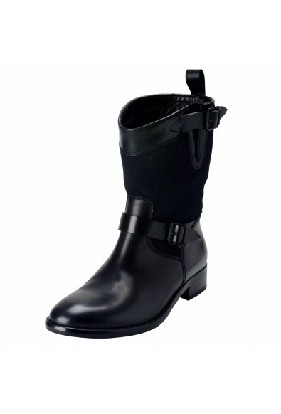 Belstaff Bedford Women's Black Motorcycle Ankle Boots Shoes