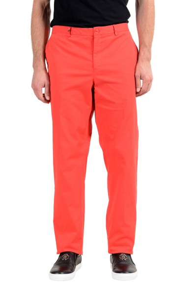 Versace Collection Men's Red Stretch Casual Pants