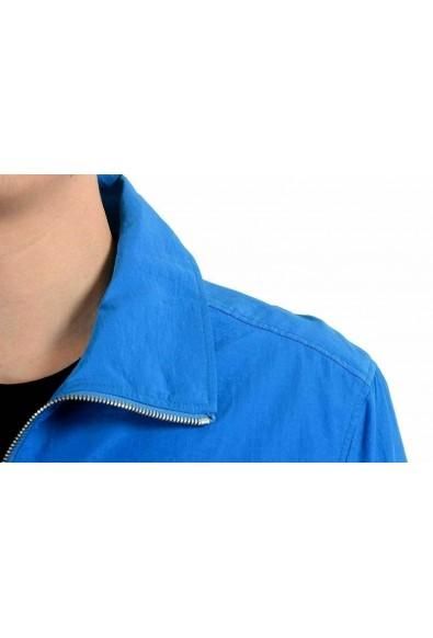 Versace Collection Men's Blue Full Zip Windbreaker Jacket: Picture 2
