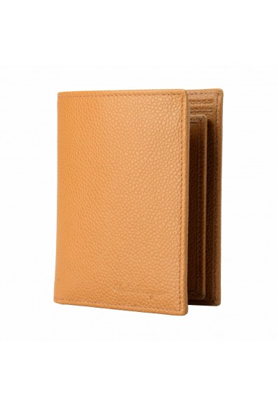Salvatore Ferragamo 100% Leather Light Brown Men's Bifold Wallet