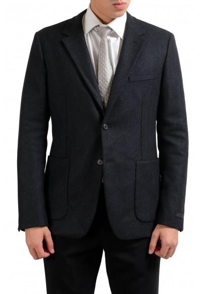Prada Wool Cashmere Gray Two Button Men's Blazer Jacket