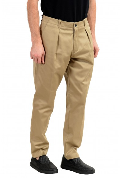 "Hugo Boss ""Kirio-Pleats-P"" Men's Beige Pleated Casual Pants: Picture 2"