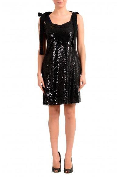 "Hugo Boss Women's ""Kistella"" Black Sparkle Sequins Embellished Mini Dress"