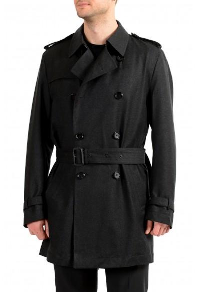 """Hugo Boss Men's """"Dan6_1"""" Wool Water Repellent Double Breasted Coat"""