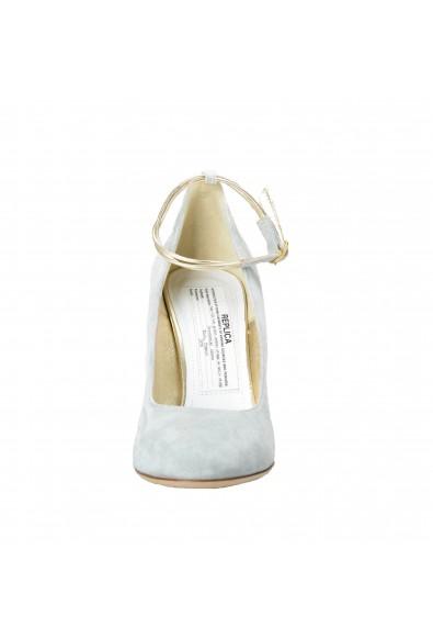 Maison Margiela Women's Gray Suede Leather Heeled Pumps Shoes: Picture 2