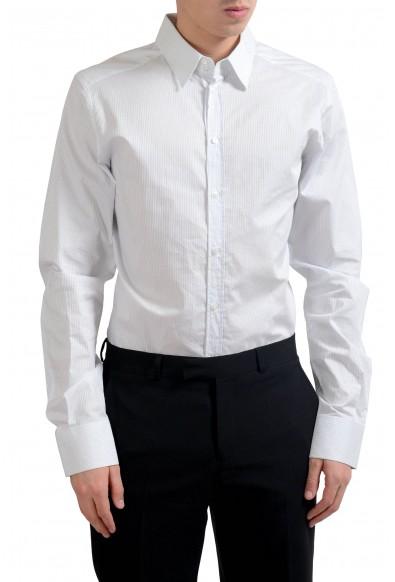 """Dolce & Gabbana """"Gold"""" Men's Striped Long Sleeve Dress Shirt"""