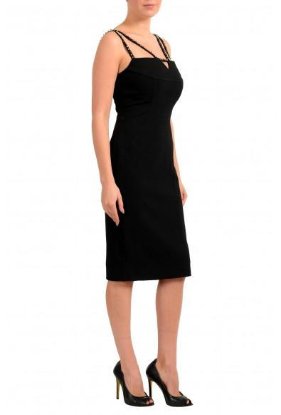 Versace Collection Women's Black Metal Studs Bodycon Mini Dress: Picture 2