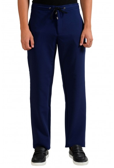 Versace Collection Stretch Men's Dark Blue Casual Pants