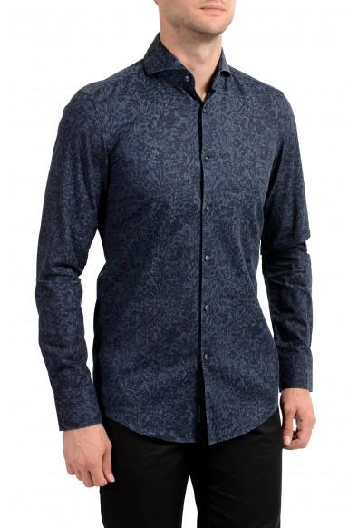 "Hugo Boss Men's ""Dwayne"" Slim Fit Graphic Long Sleeve Dress Shirt"