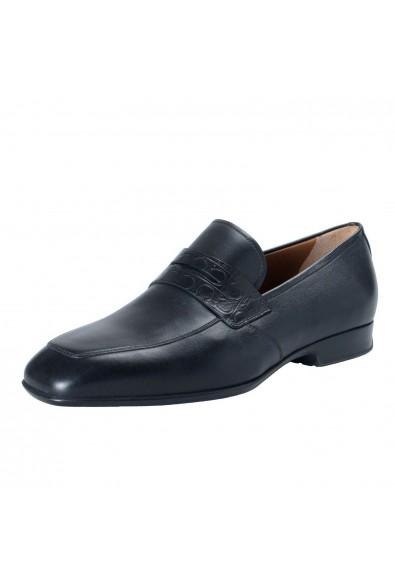 "Salvatore Ferragamo ""Laramie"" Men's Leather Black Loafers Slip On Shoes"
