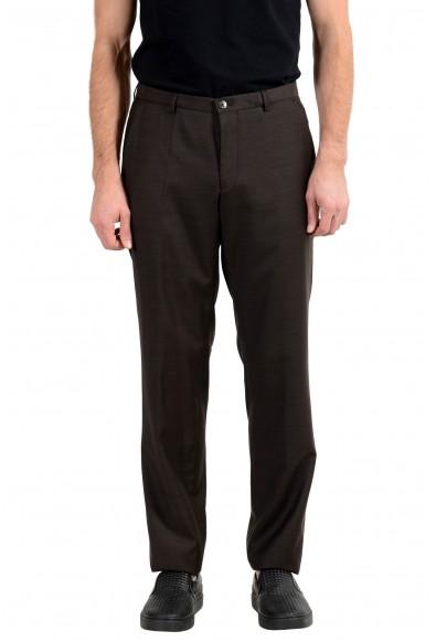"Hugo Boss ""C-Jeys1/C-Shaft1"" Men's 100% Wool Brown Dress Pants"
