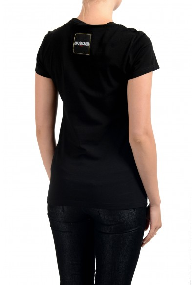 "Roberto Cavalli ""Sport"" Women's Black Graphic Print Crewneck T-Shirt: Picture 2"
