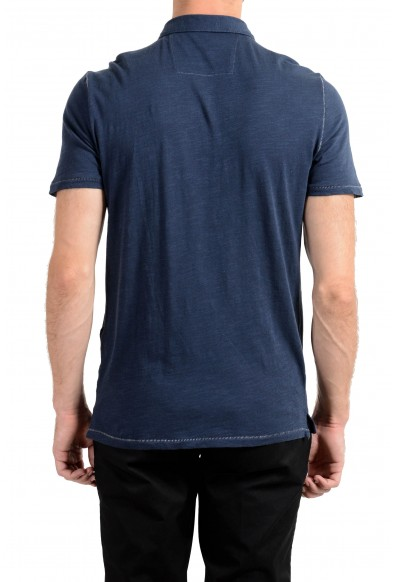 John Varvatos Star USA Men's Navy Blue Short Sleeve Polo Shirt: Picture 2