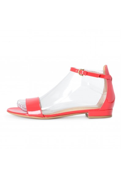 """Salvatore Ferragamo Women's """"Elgy"""" Red Patent Leather Heeled Sandals Shoes: Picture 2"""