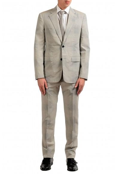 Maison Margiela 14 Men's 100% Wool Gray Two Button Suit