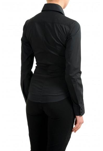 Versace Black Long Sleeve Women's Button Down Shirt: Picture 2
