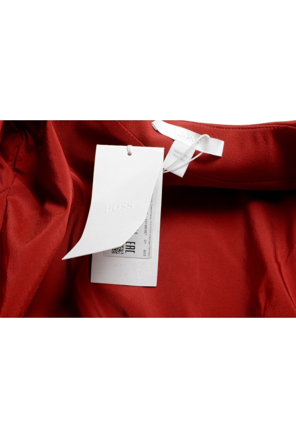 "Hugo Boss Women's ""Jikiva"" Bright Red Buttonless Blazer  : Picture 5"
