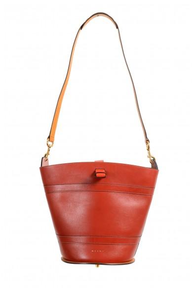 Marni Women's Multi-Color Leather Bucket Shoulder Bag Handbag