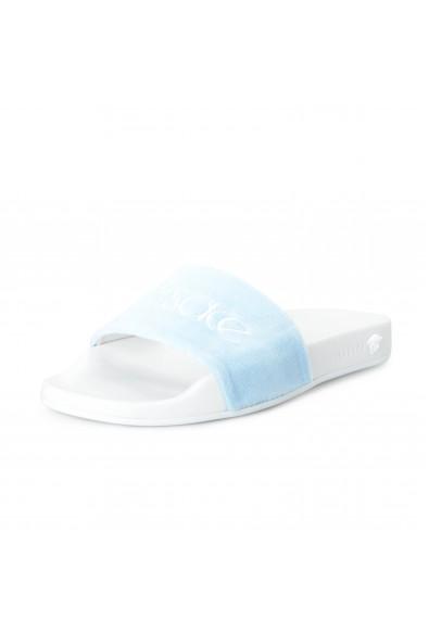 "Versace Women's Blue ""Versace"" Flip Flops Shoes"