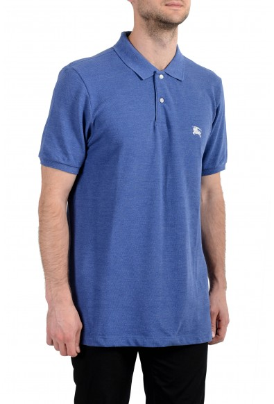 Burberry Men's Blue Short Sleeve Polo Shirt : Picture 2