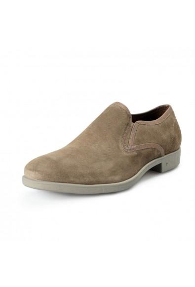 John Varvatos Men's Dylan Sidegore Leather Slip On Loafers Shoes