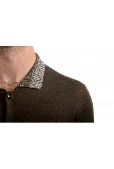 Malo Men's 100% Linen Brown Cardigan Light Sweater: Picture 2