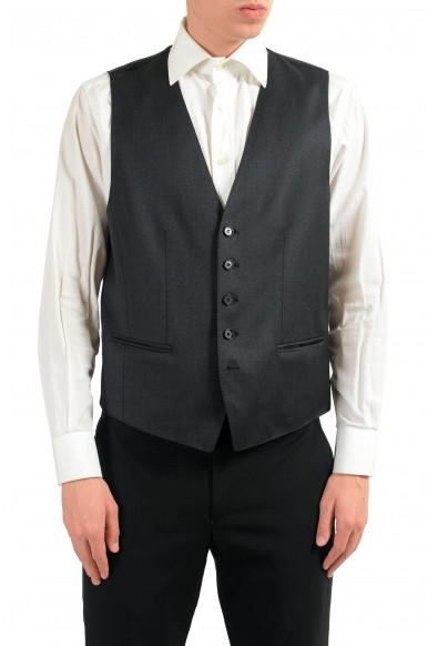 """Hugo Boss """"Westin"""" Men's Gray 100% Wool Button Up Dress Vest"""